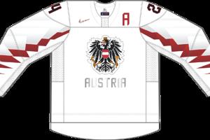 Dres Rakúska určený pre zápasy, v ktorých je napísané ako domáci tím.