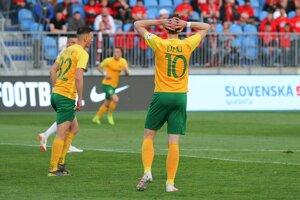 Filip Balaj, strelec dvoch žilinských gólov, po zápase neskrýval smútok.