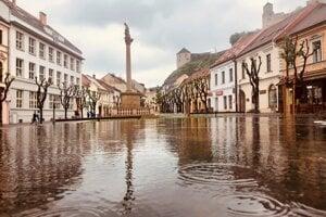 Dážď v Trenčíne.