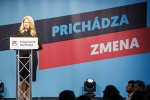 Čaputová sa prišla rozlúčiť s Progresívnym Slovenskom.