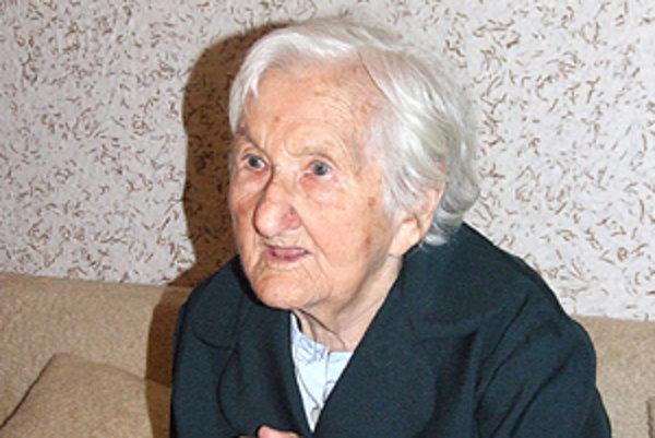 Emília Fungáčová 6. októbra oslávi 101 rokov.