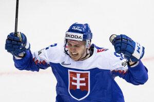 Martin Marinčin sa raduje po góle do siete Fínska.