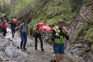 Suchá Belá, kde záchranári ošetrovali zranenú ženu, je najnavštevovanejšou roklinou Slovenského raja.