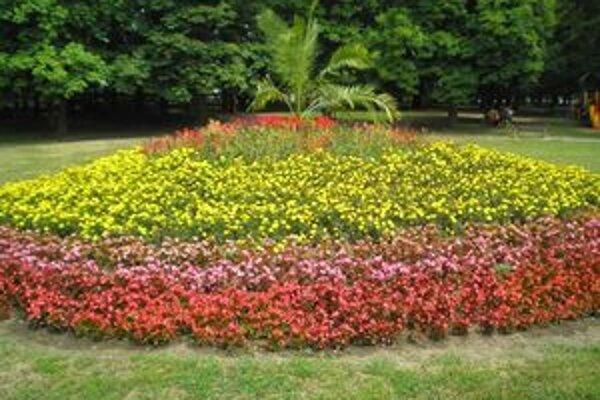 V letných mesiacoch mestský park v Lučenci hýri farbami.