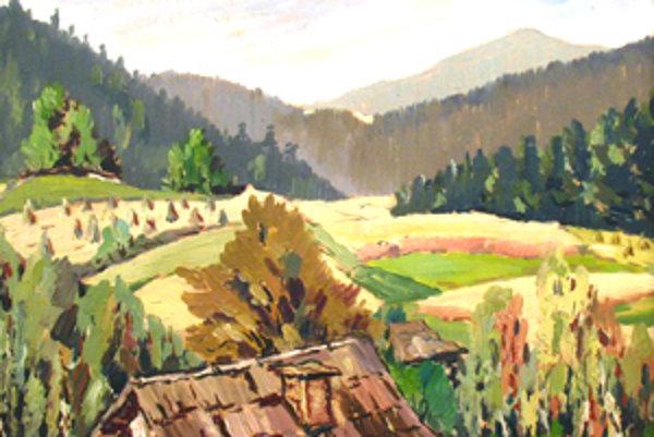 Reprezentatívny výber z tvorby Martina Benku predstavuje hlavne voľná maliarska tvorba.