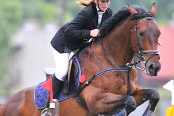 Skvelý tandem - Lucka Kosková a jej kôň Figaro.
