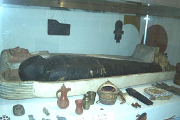 Múmia. V múzeu v Rimavskej Sobote je už takmer sto rokov.
