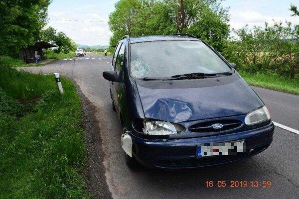 Na mieste nehody v katastri obce Sklabiná.