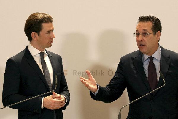 Sebastian Kurz (vľavo) a Heinz-Christian Strache.