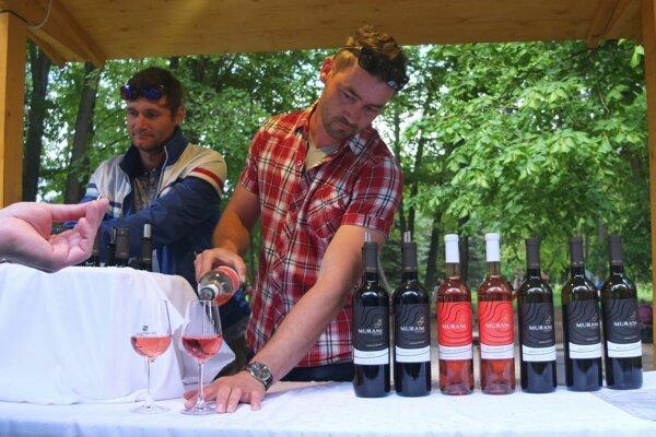 """Muráni Víno Čajkov v žiarskom parku. Vinári, ktorí hrozno pestujú na sopečnom podloží. """"Čajkovské vína vydržia dlhšie, a preto ich najradšej kupujú Kremničania, Štiavničania a Bystričania, kde sa tieto vína najviac pijú,"""" písal už Matej Bel."""