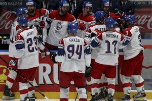 Hokejisti Česka počas MS v hokeji 2019.