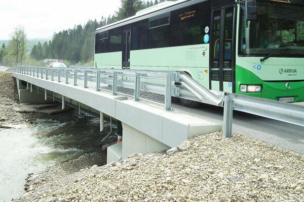 Jeden z troch nových mostov medzi Vitanovou a Oravicami.