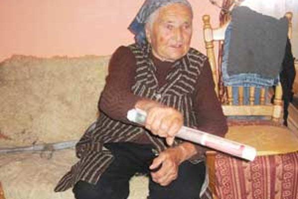 Starká Mária je jednou z najstarších obyvateliek lazov pri Dačovom Lome.