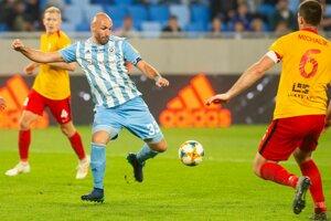 Róbert Vittek vo svojom rozlúčkovom zápase záverečného 10. kola nadstavbovej časti Fortuna ligy o titul ŠK Slovan Bratislava - ŠKF iClinic Sereď.