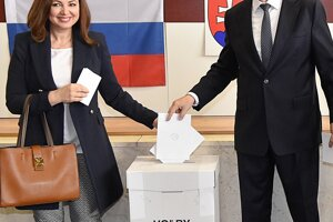 Na snímke prezident Slovenskej republiky Andrej Kiska s manželkou Martinou.