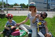 Irena Lehotská s deťmi.