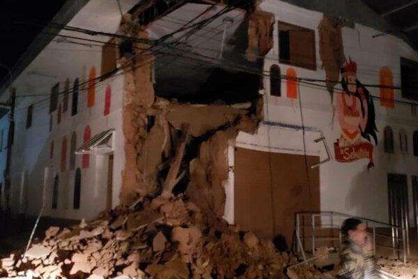 Ide o najsilnejšie zemetrasenie v Peru za posledných 12 rokov.