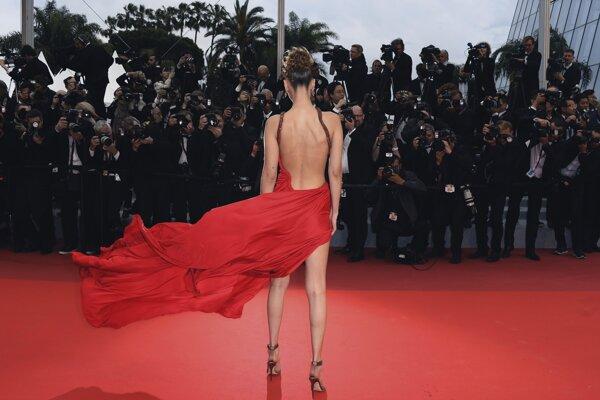 Bella Hadid pred premiérou filmu Pain and Glory