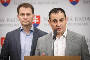 Zľava Igor Matovič a Peter Pollák.