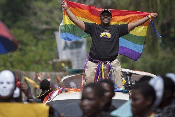 Pochod homosexuálov v Ugande.