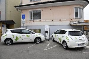 Nabíjacia stanica pre elektromobily.