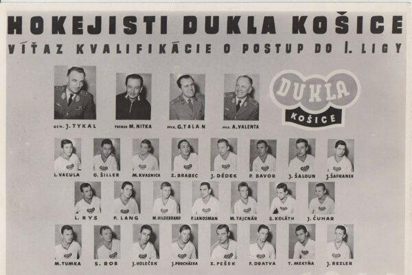 Vzácne tablo zostavy, ktorá vybojovala pre Košice ligu.