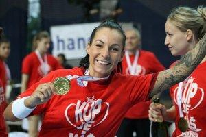 Mária Holešová získala v premiérovej sezóne v Chorvátsku ligový aj pohárový primát.