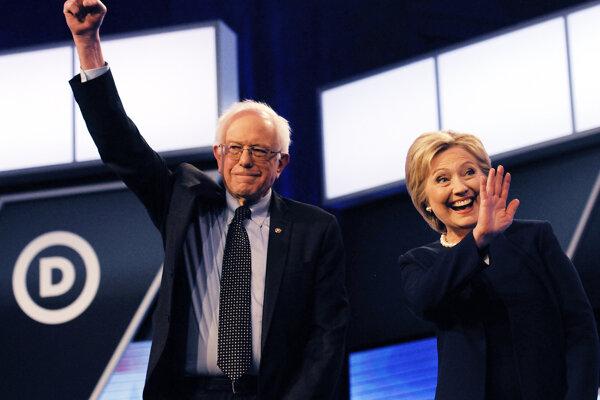 Hillary Clintonová a Bernie Sanders.