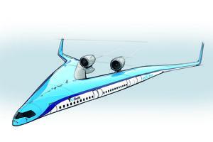 Koncept lietadla Flying-V.