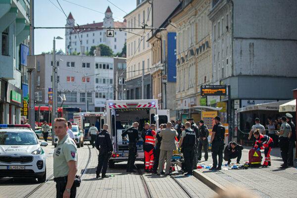 Streľba na Obchodnej ulici v Bratislave.