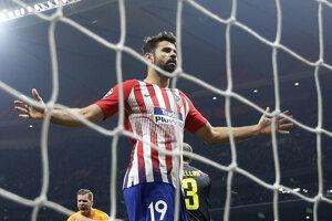 Diego Costa v drese Atlética Madrid na ilustračnej fotografii.