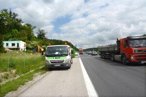 Práce si vyžiadali dopravné obmedzenia.