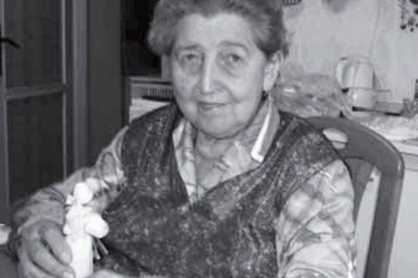 Ľudová umelkyňa Mária Karolová.