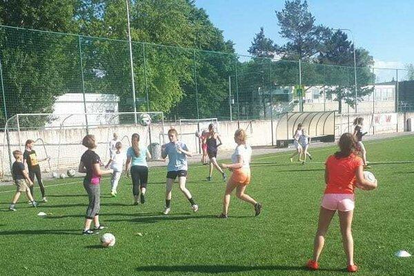 Počas tréningu v Bánovciach.