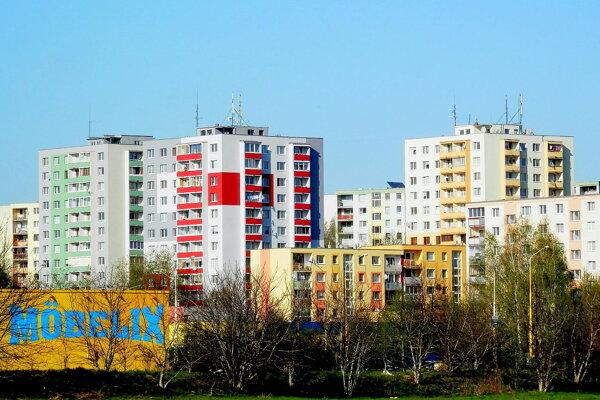 Panelové domy na ulici Martina Benku v Prešove.