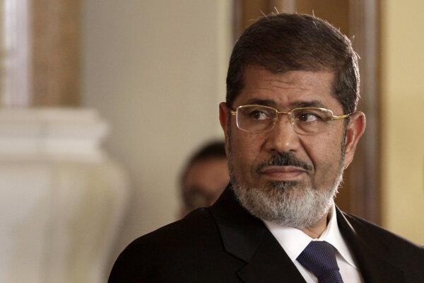 Muhammad Mursí na snímke z roku 2012.