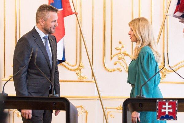 Prezidentka Čaputová a premiér Pellegrini.