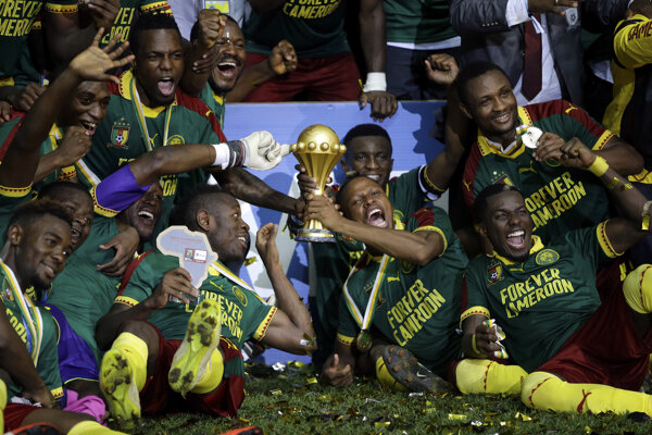Hráči Kamerunu vyhrali Africký pohár národov v roku 2017.