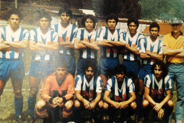 Tím Nikaraguy z roku 1985. Celkom vpravo stojí reprezentačný tréner Ján Fülöp.
