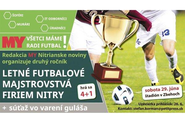 V sobotu sa uskutoční firemný futbalový turnaj v Zbehoch.
