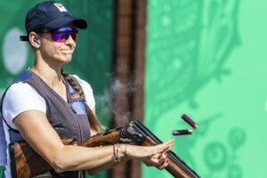 Slovenská reprezentantka v športovej streľbe v skeete Danka Barteková v kvalifikácii na II. Európskych hrách v Minsku 26. júna 2019.