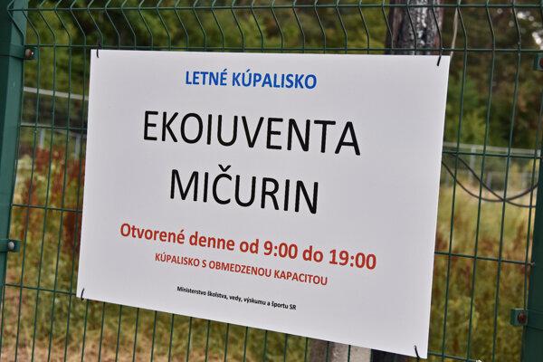Kúpalisko Mičurin ostalo zatvorené.