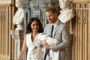 Vojvodkyňa a vojvoda zo Sussexu so synom.
