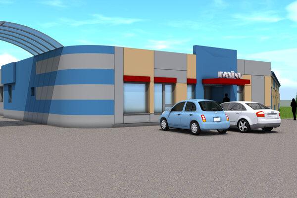 Vizualizácia kasína a relaxačného centra. foto: mesto Holíč