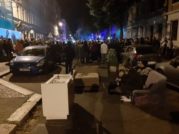 Protest v Lipsku proti deportácii migranta 10. júla 2019.