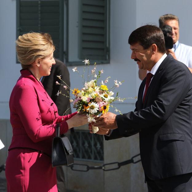 Zuzana Čaputová a János Áder.