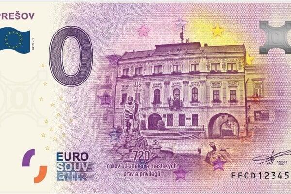 Nulová bankovka Prešov.