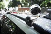 Kamerový systém inteligentného monitorovacieho vozidla CAM CAR, ktoré má slúžiť na monitorovanie zóny rezidenčného parkovania v Starom Meste.