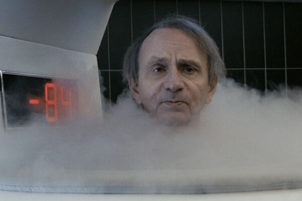 Michel Houellebecq na detoxikačnej kúre vo filme Thalasso.