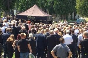Pohreb Mariána Troligu.